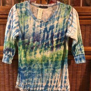 Tie Dye Look David Cline Top NWT $102